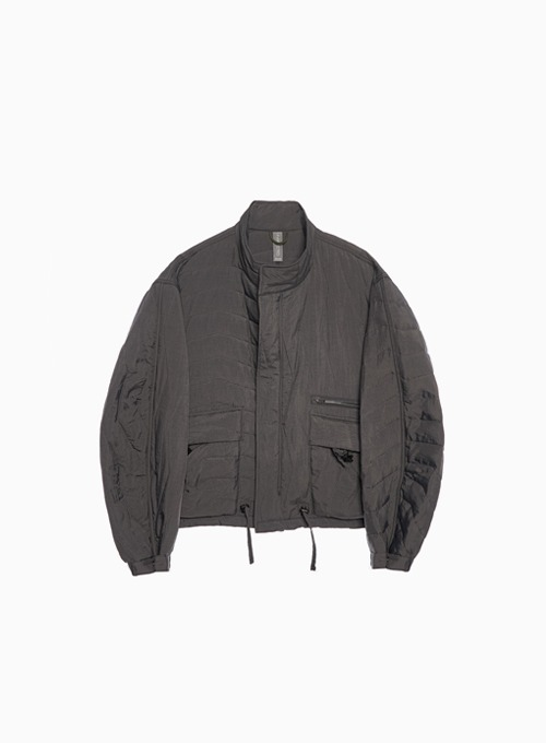 MULTI QUILTED BLOUSON (CHARCOAL)