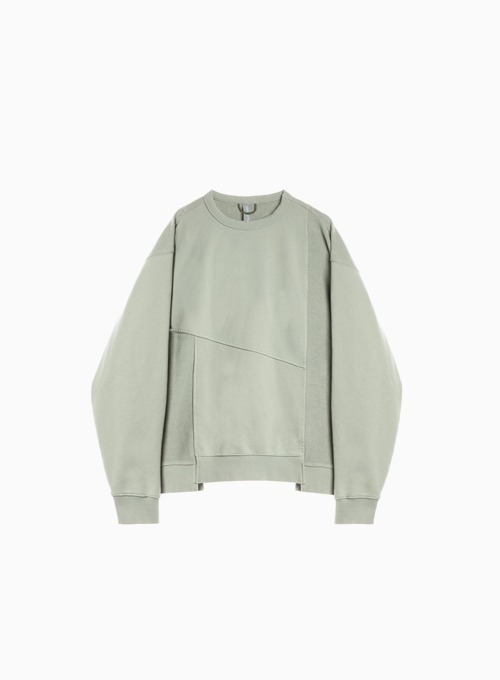 MIXED SWEATSHIRT (SAGE GREEN)