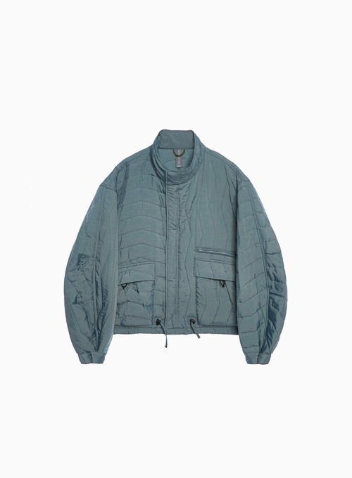 MULTI QUILTED BLOUSON (AQUA SMOKE)