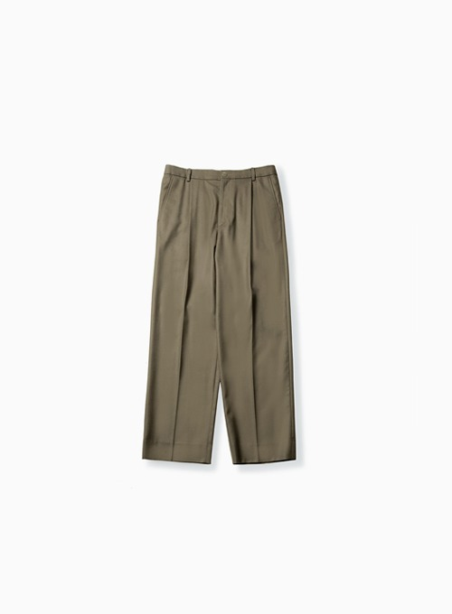 WIDE PANTS (DARK BEIGE)