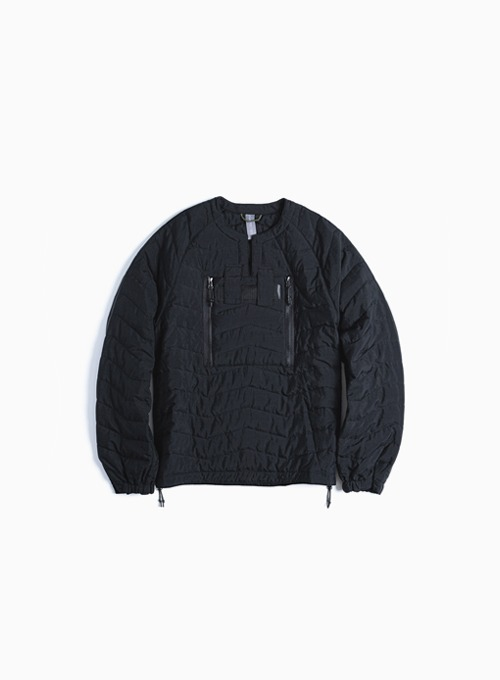 QUILTED PULLOVER JUMPER (BLACK)