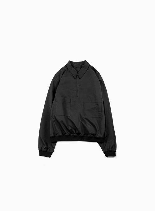 LIGHT HALF ZIP UP (BLACK)