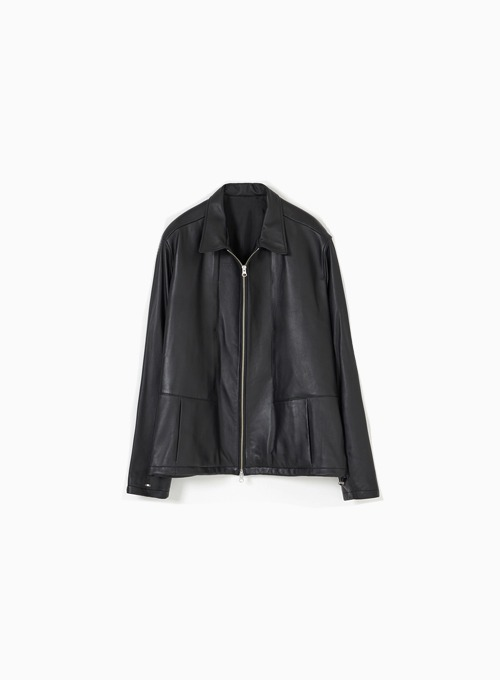 LEATHER DRIZZLER JACKET (BLACK)