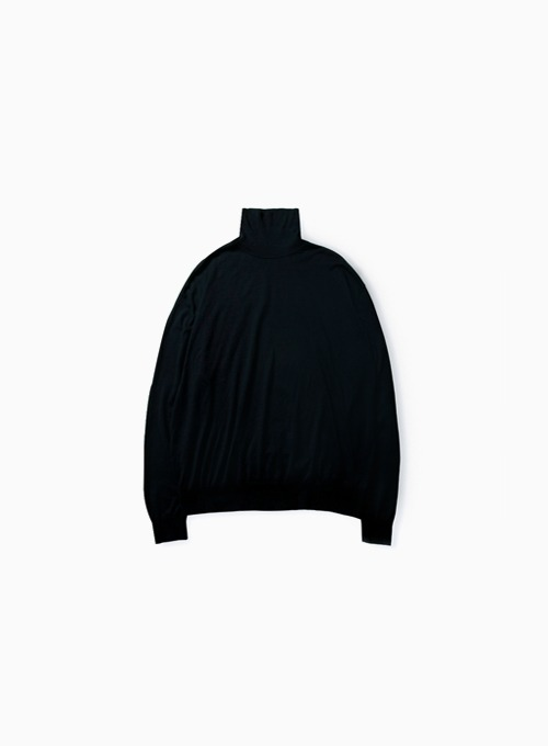 HIGH GAUGE TURTLENECK (NAVY)