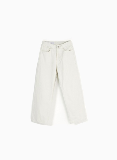 WIDE DENIM PANTS (LIGHT GREY)