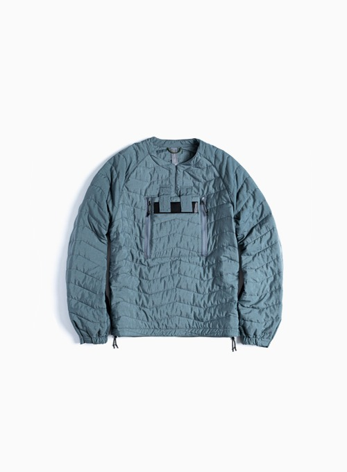 QUILTED PULLOVER JUMPER (AQUA SMOKE)