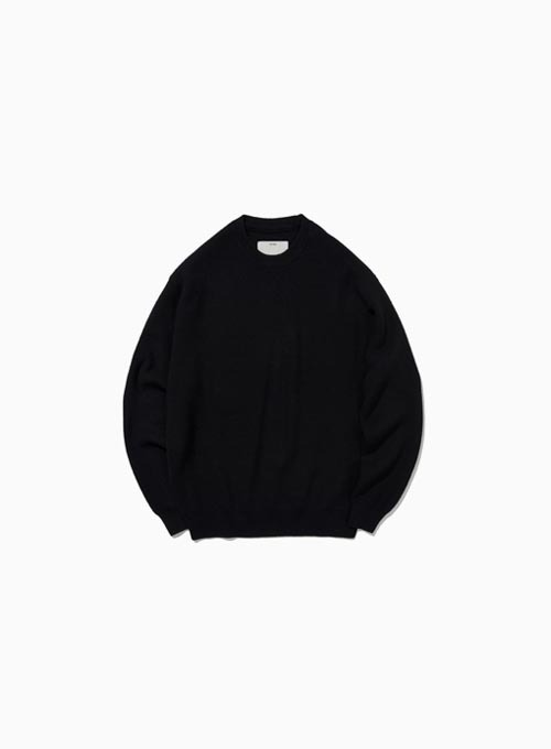 COMFORT CREWNECK KNIT (BLACK)