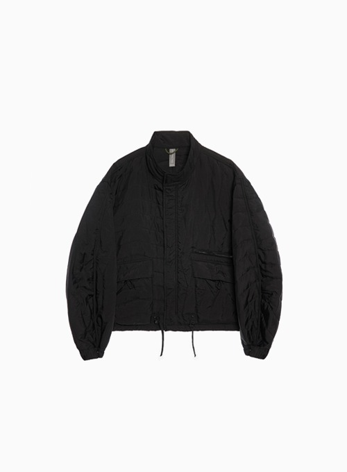 MULTI QUILTED BLOUSON (BLACK)