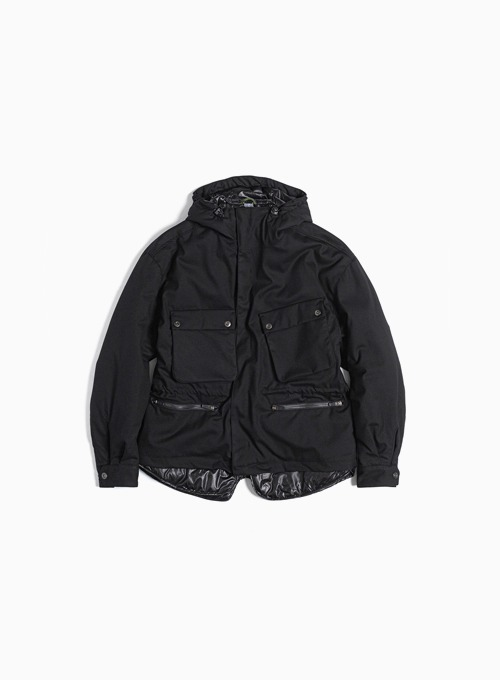 LAYERED RIDER PARKA (BLACK)