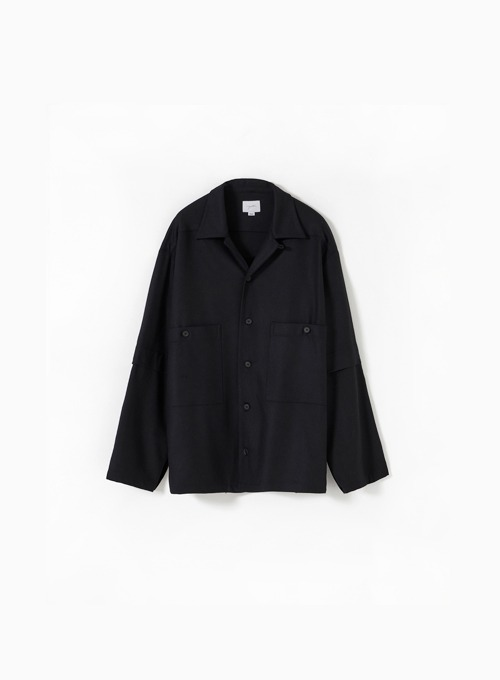 LAYERED SLEEVE SHIRT (BLACK)