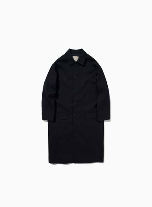 WOOL MAC COAT (DARK NAVY)