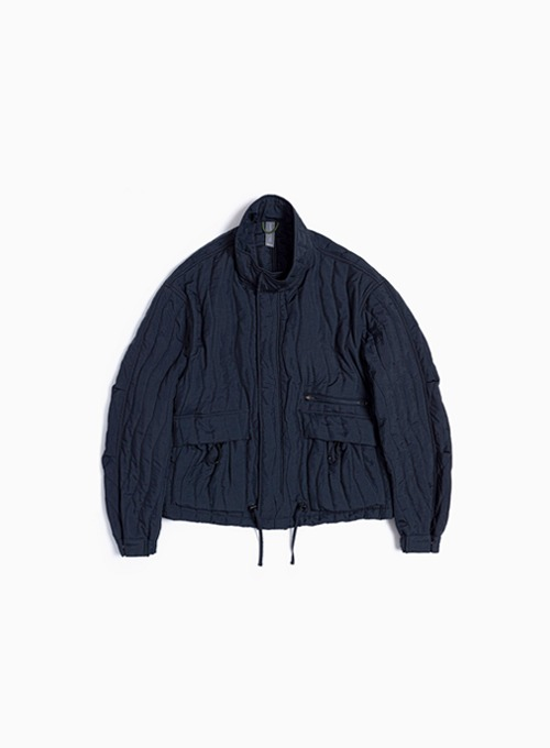 QUILTED BLOUSON (NAVY)