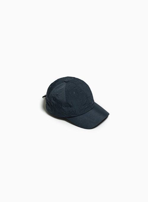 LOGO DRAWSTRING BALL CAP (CHARCOAL BLUE)
