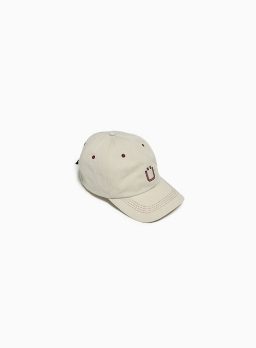 DRAWSTRING BALL CAP (ECRU)