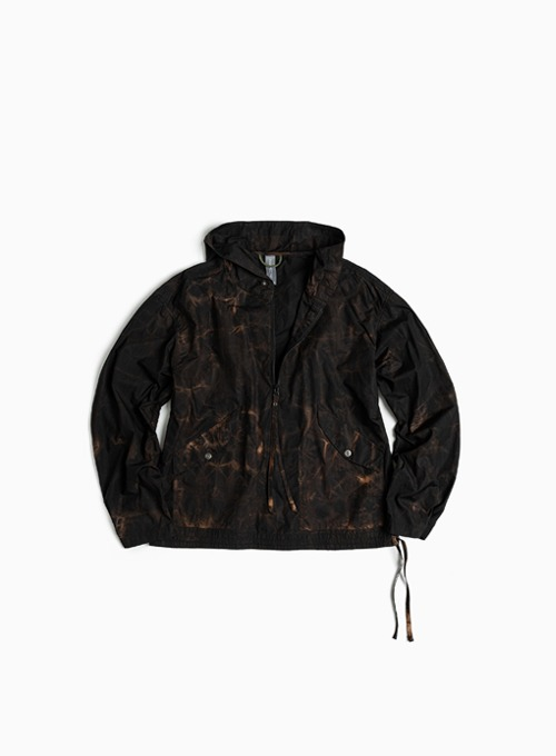 HOODED ANORAK (MAGMA BLACK)