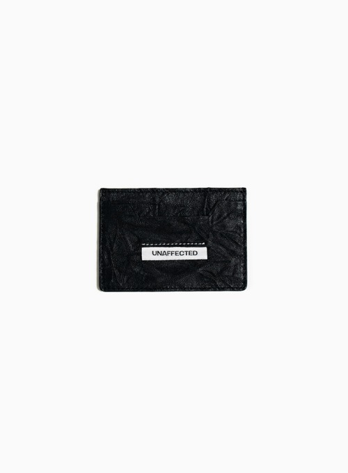 LOGO LABEL CARD HOLDER (BLACK)