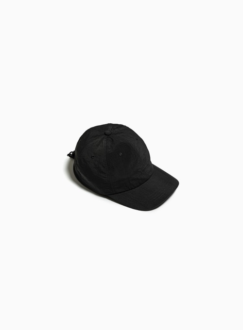 LOGO DRAWSTRING BALL CAP (BLACK)