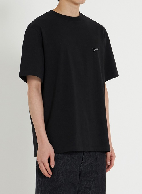 H/S LOGO T-SHIRT (BLACK)