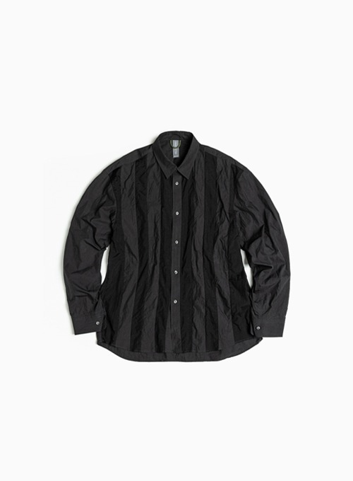 CONTRAST PANEL SHIRT (BLACK)