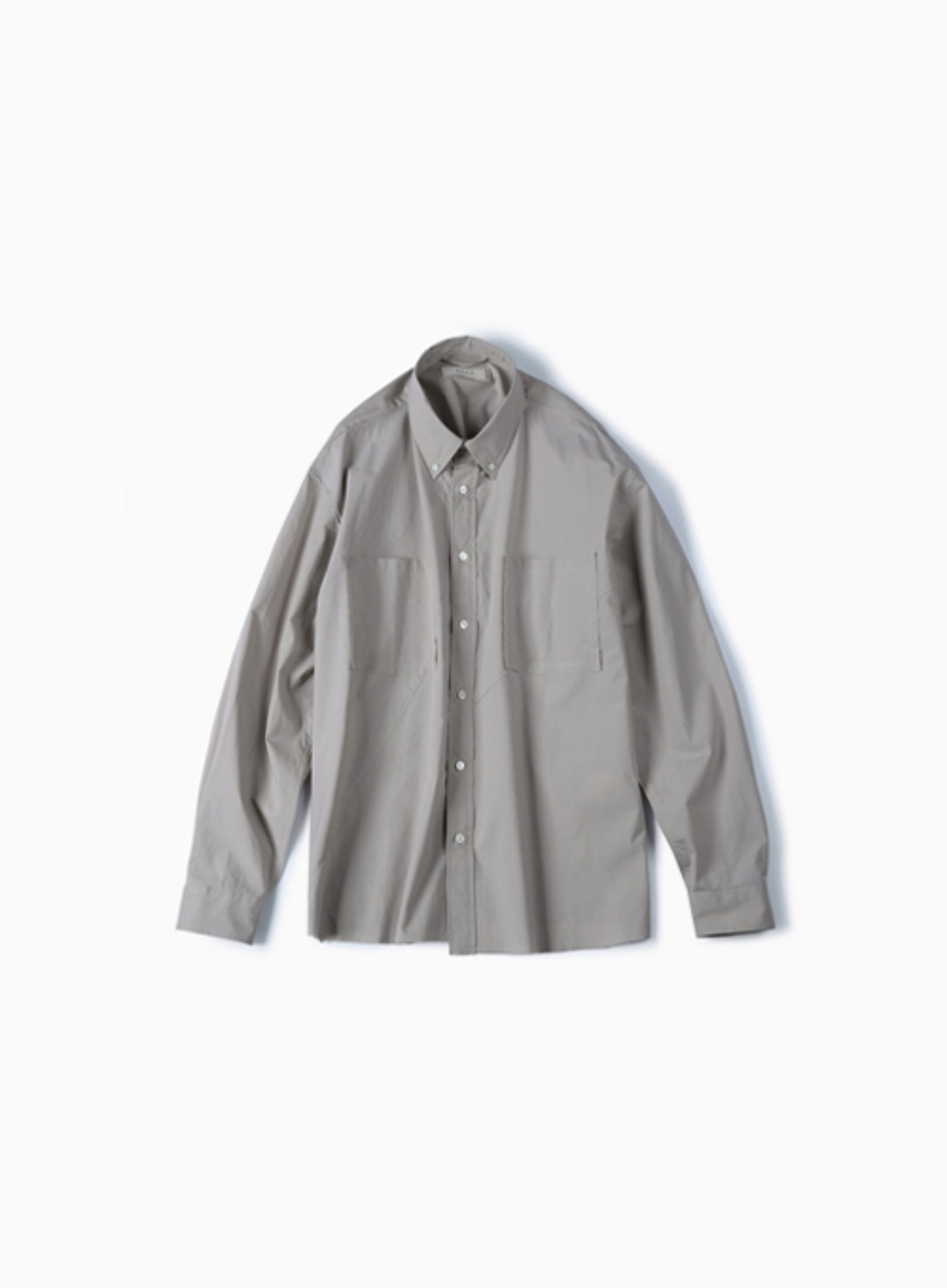 CUT OFF TWIST OVER SHIRT (REDDISH GREY)