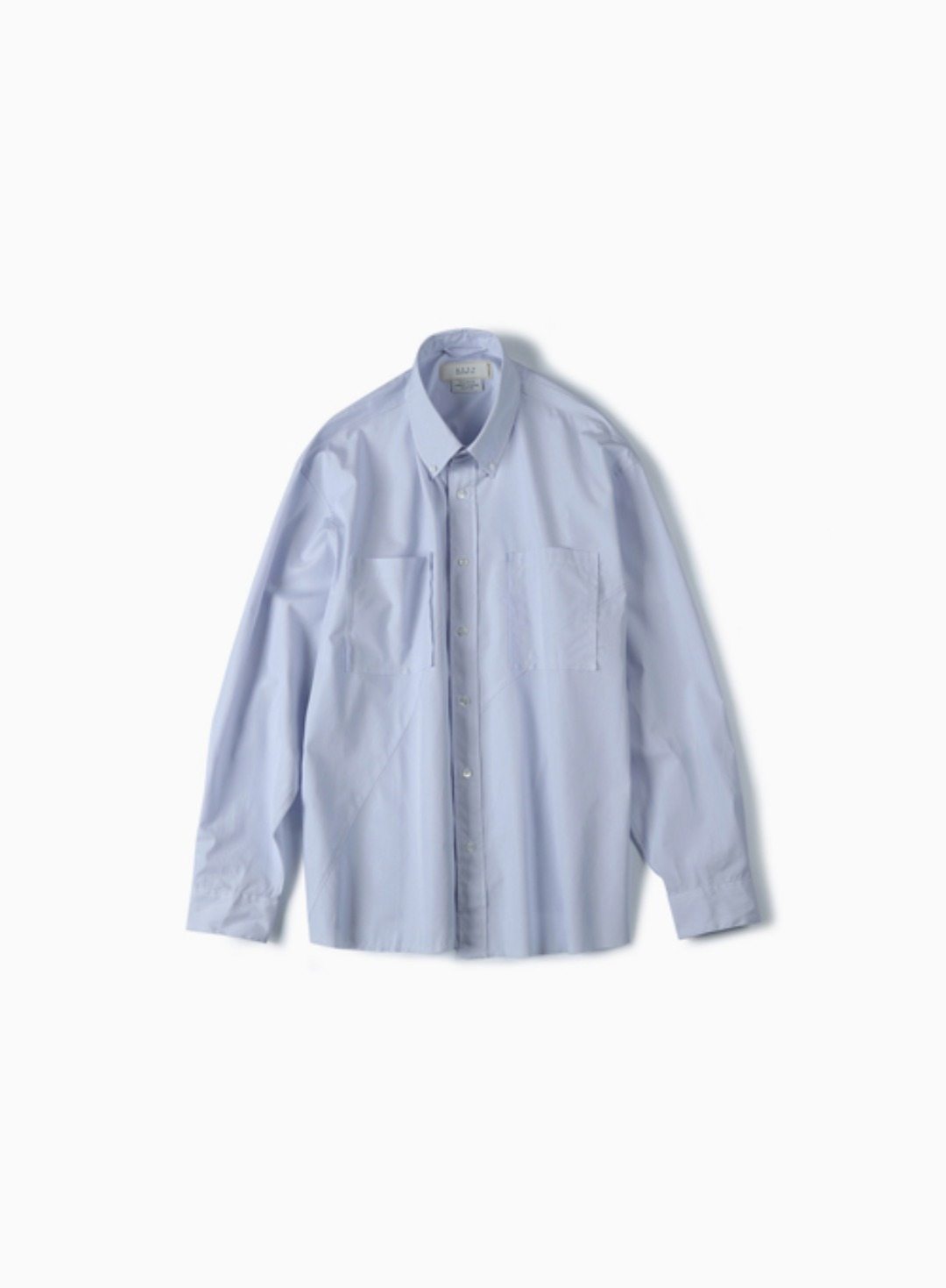 CUT OFF TWIST OVER SHIRT (BLUE STRIPE)