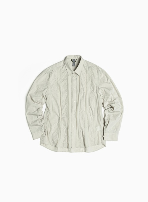CONTRAST PANEL SHIRT (LIGHT GREY)