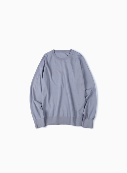 WASHABLE PURE WOOL CREW NECK KNIT (LAVENDER)