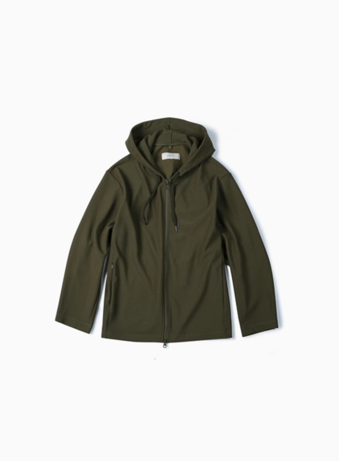 RIB JERSEY HOODIE (OLIVE)