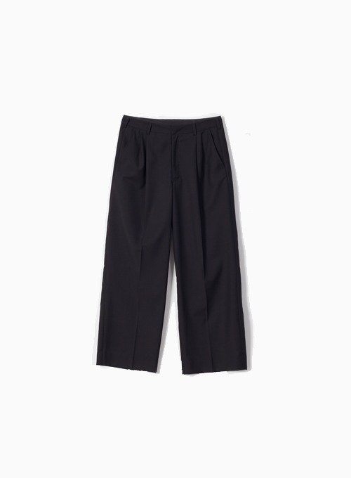 WIDE SILHOUETTE TROUSER (BLACK)