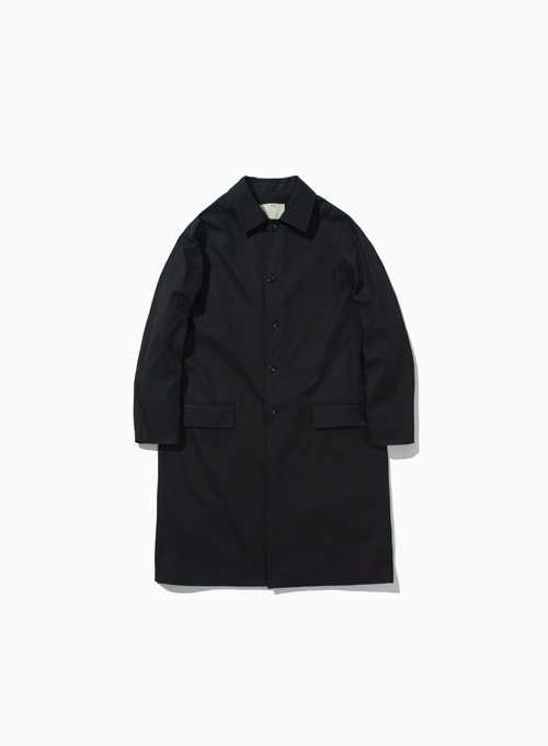 COTTON MAC COAT (BLACK)