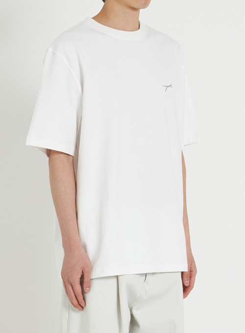 H/S LOGO T-SHIRT (WHITE)