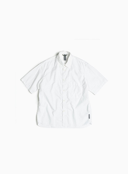 LOGO LABEL HALF SHIRT (OFF WHITE)