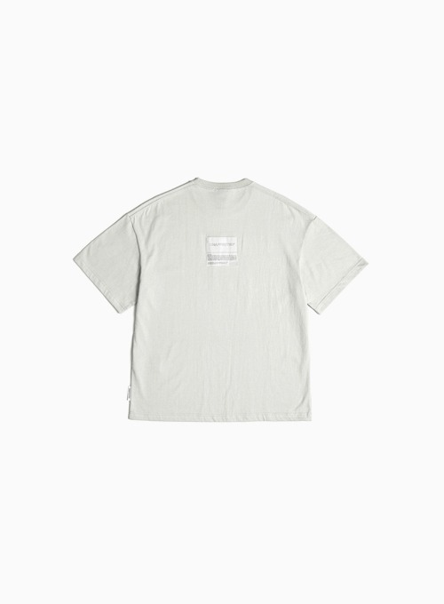 LOGO PATCH T-SHIRT (LIGHT GREY)