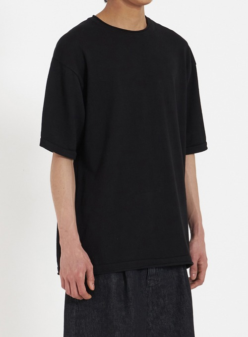 KNIT T-SHIRT (BLACK)
