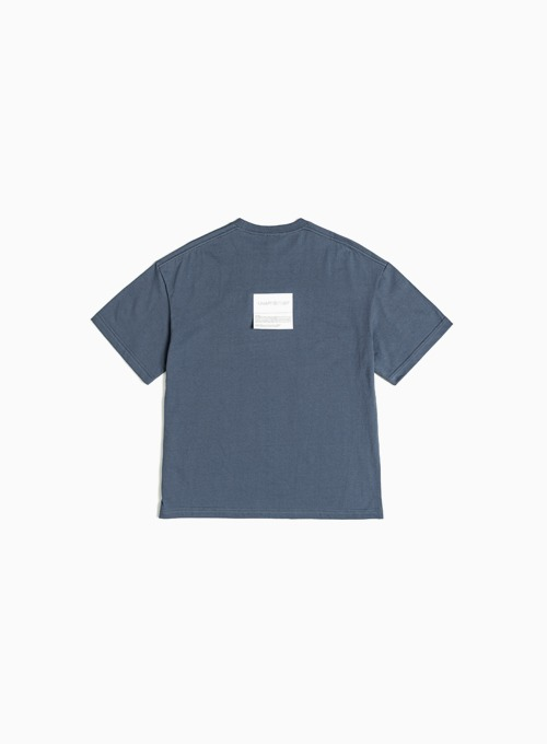 LOGO PATCH T-SHIRT (CHARCOAL BLUE)