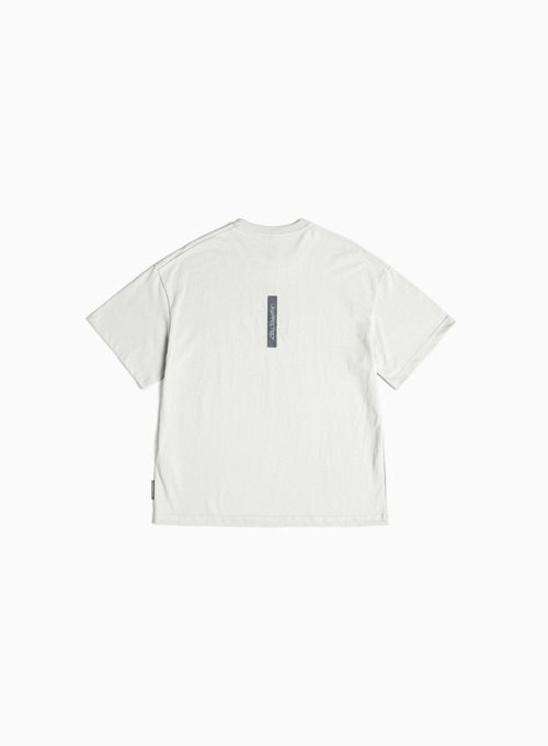 LOGO LABEL T-SHIRT (LIGHT GREY)