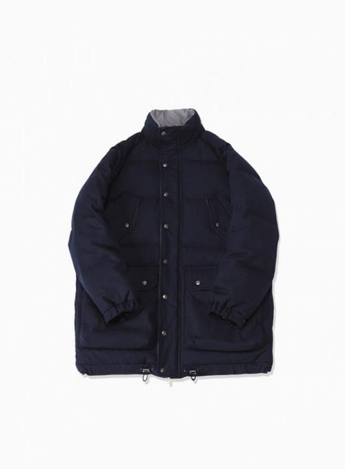 6 POCKET CLASSIC GOOSE DOWN PARKA (GINGHAM NAVY)