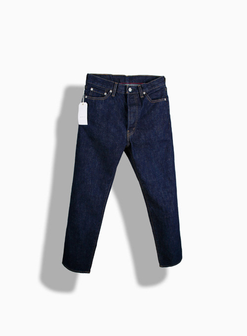 5POCKET ANKLE DENIM ONE WASH (BLUE)