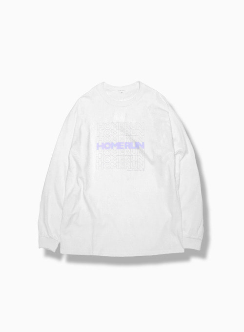 HOMERUN LONGSLEEVE (WHITE/PURPLE)