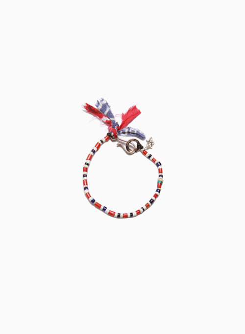 OLD TRICOLOR BEADS BRACELET (D-621)