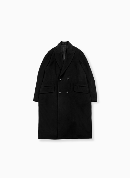 DOUBLE BREASTED COAT (BLACK)