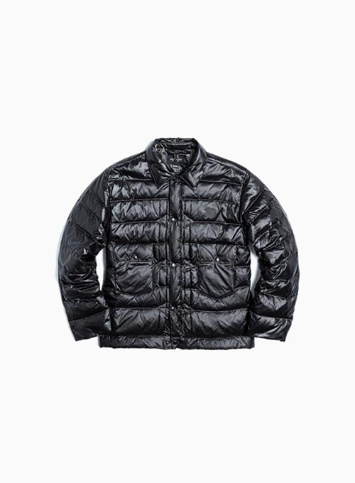TRUCKER LIGHT DOWN JACKET (BLACK NYLON)
