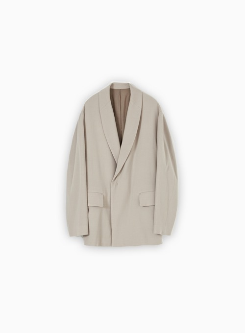 SHAWL COLLAR JACKET (BEIGE)
