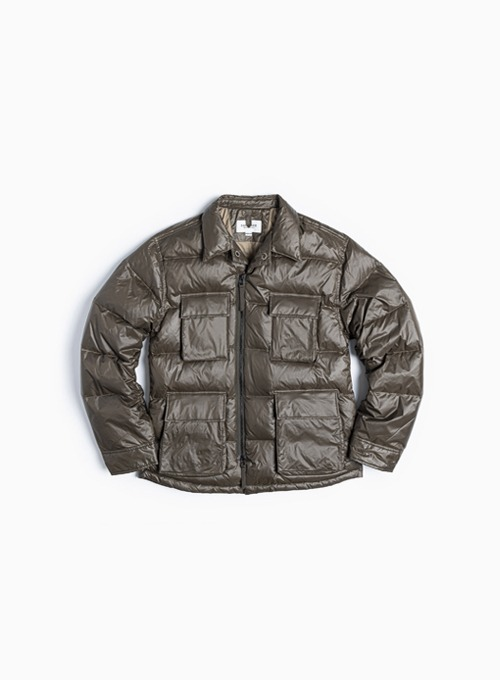BDU DOWN JACKET (OLIVE NYLON)