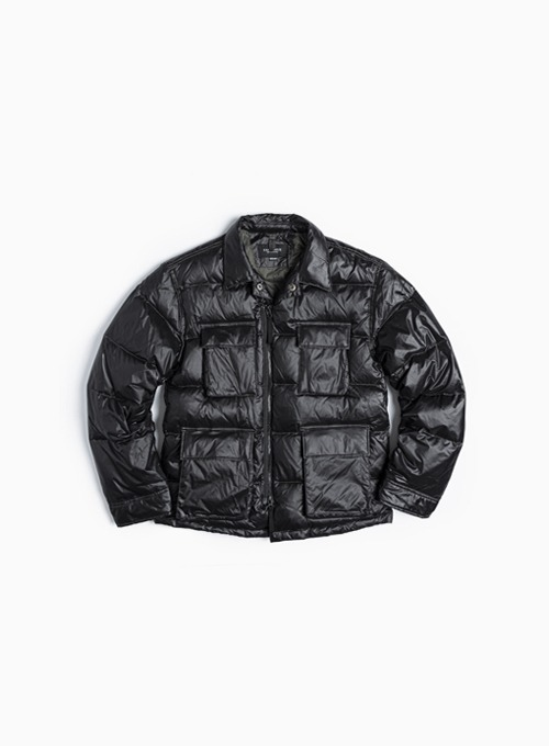 BDU DOWN JACKET (BLACK NYLON)