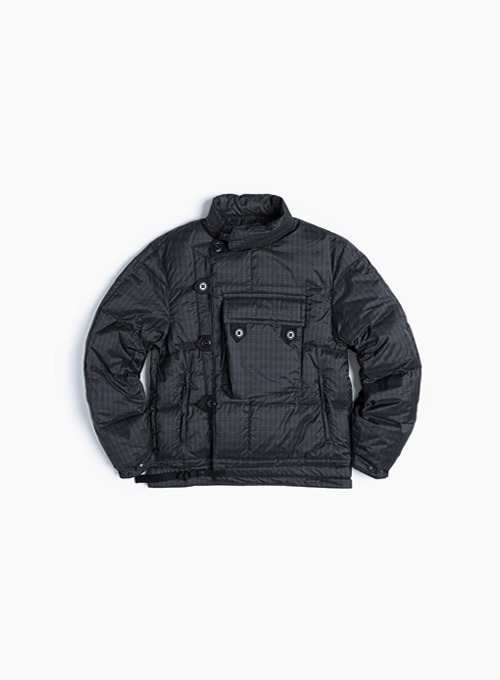 MOTORCYCLE DOWN JUMPER (BLACK/GREEN CHECK)