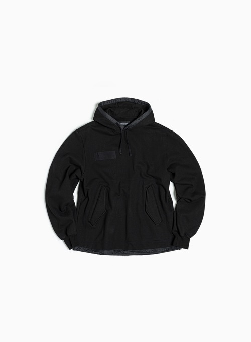 FISHTAIL HOODED SWEATSHIRT (BLACK)