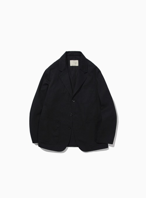 WASHED SPORTS JACKET (BLACK)