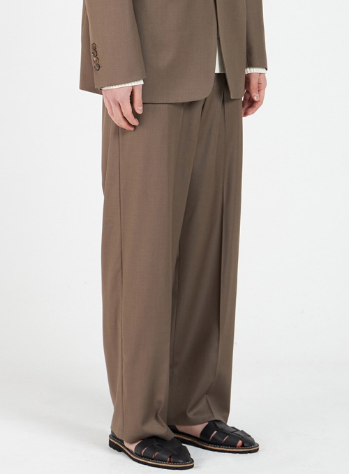 WIDE TROUSERS (BROWN)