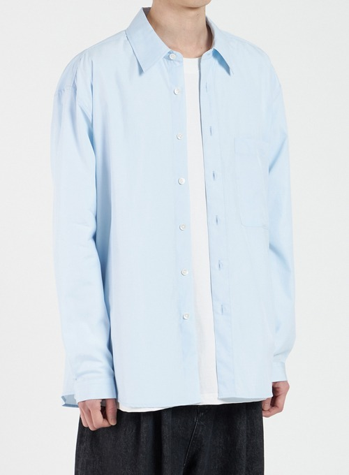 LOOSED SHIRT (SKY BLUE)